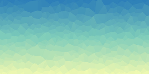 Abstract Delaunay Voronoi trianglify color diagram background illustration Wall mural