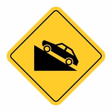Uphill traffic sign