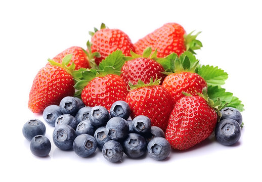 Sweet strawberry and blueberries.