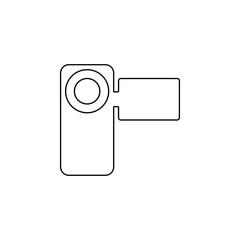 manual video camera icon. Element of web for mobile concept and web apps icon. Outline, thin line icon for website design and development, app development