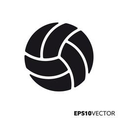 Volleyball ball vector glyph icon