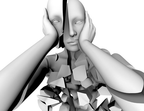 Memory loss, mental illness, emotional problems and stress concept.