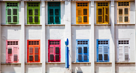 background of jolly colorful windows