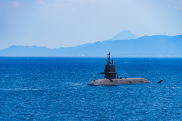 The image of national defense, submarine, navy