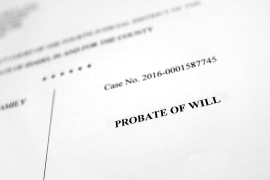Probate Filings Court Document Estate Planning