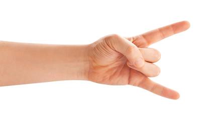 rock hand sign