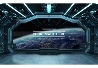 Spaceship Window Mockup