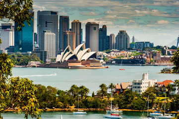 Aluminium Prints Sydney Sydney Skyline taken from Taronga Zoo