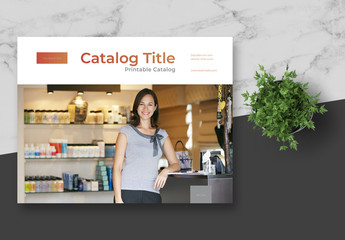 Multipurpose Catalog Layout with Copper Gradient Elements