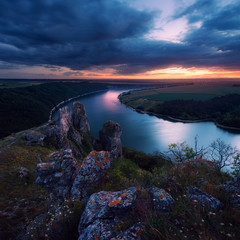 Dniester Canyon near village Nagotyani. Ukraine