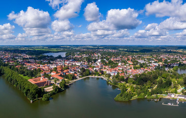 Aerial view of Eutin city in Germany Wall mural