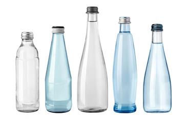 Fototapeta water glass bottle isolated