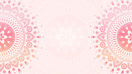 Flower mandala background template. Gradient pattern for design, textile