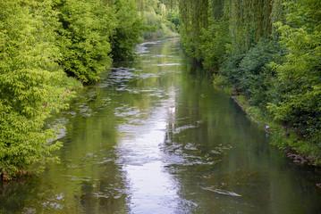 Obraz View of Brynica river in southern Poland - fototapety do salonu