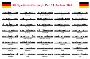 40 Big cities in Germany - Part 01 Aachen - Kiel