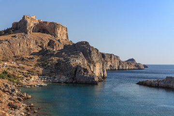 St Paul's Bay Beach in Lindos, Greece