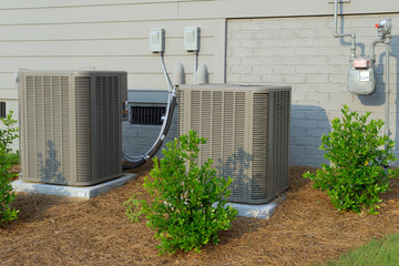 AC units connected to residential house