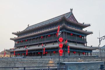 The beautiful city gate tower of Xi'an city of China. Fototapete