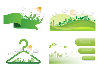 Ecology environmentally friendly concept Vector infographic Wall mural