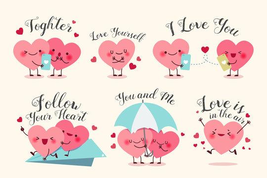 cute cartoon hearts