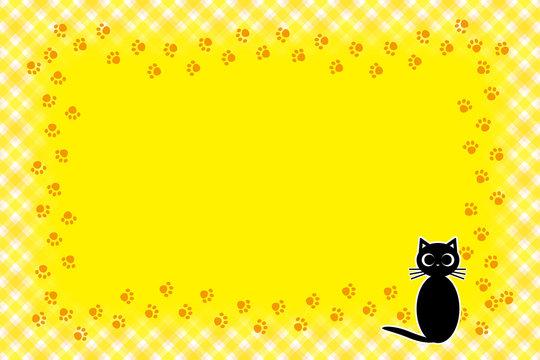 背景素材壁紙,写真フレーム,メッセージ枠,猫,足跡,肉球,ペット,コピースペース,動物病院,広告宣伝,チラシ,パンフレット,動物病院,ペットショップ,