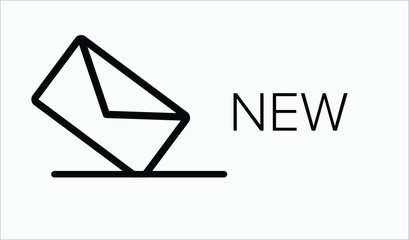 New Inbox  Email Icon. Email message vector illustration on white isolated background. Vector Icon