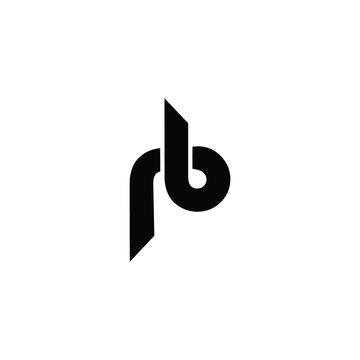 initial letter rb logo vector