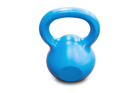 Heavy kettle bell isolated on white background,clipping path.