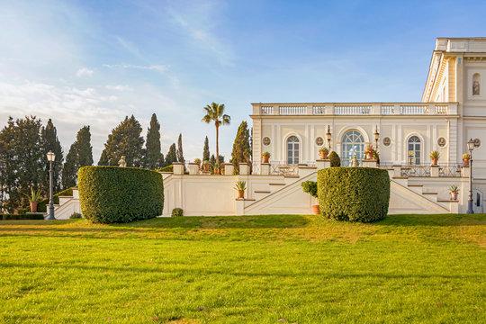 Villa apartment palace house with garden