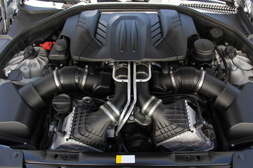 a petrol engine in a sports car