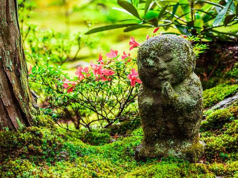京都 三千院 わらべ地蔵