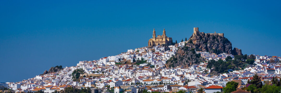 Olvera white village in Cadiz province, Andalusia, Spain