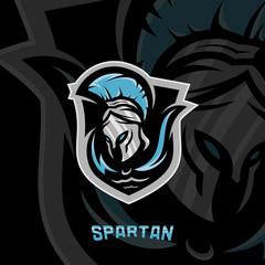 Spartan Logo Vector Template. Modern logo esport team. Emblem logo