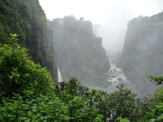 Foto op Canvas Fantasie Landschap Afrika, Berg, Landschaft, Wasserfall, Canyon, Phantasy