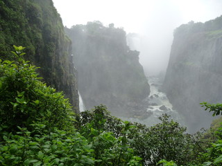 Foto op Plexiglas Fantasie Landschap Afrika, Berg, Landschaft, Wasserfall, Canyon, Phantasy