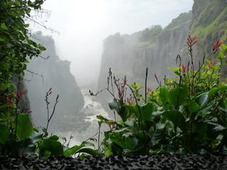 Papiers peints Fantastique Paysage Afrika, Berg, Landschaft, Wasserfall, Canyon, Phantasy