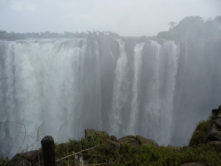 In de dag Fantasie Landschap Afrika, Berg, Landschaft, Wasserfall, Canyon, Phantasy