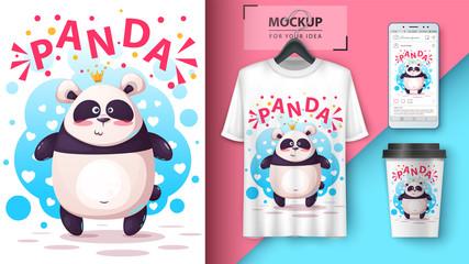 Cute panda - mockup for your idea.