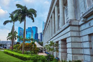 architecture of Singapore Fototapete