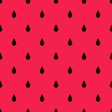 Watermelon Seamless Pattern with Small Black Drops