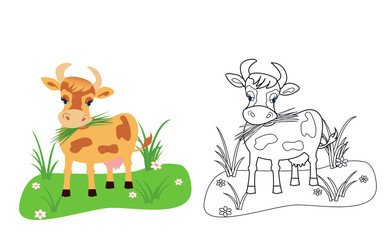 cow coloring book for kids