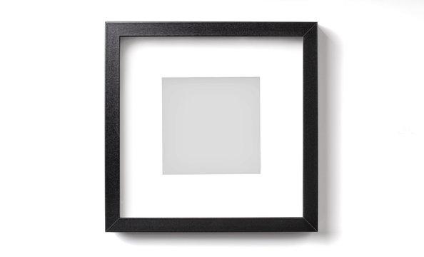 Black square picture frame