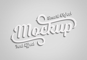 3D Embossed Text Effect