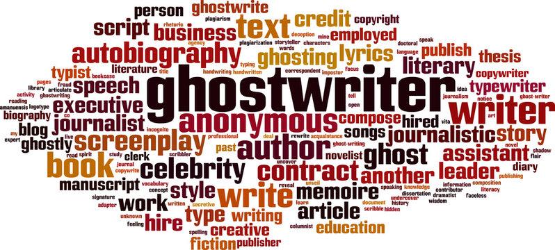 Ghostwriter word cloud