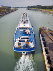ship at river Rhine Germany