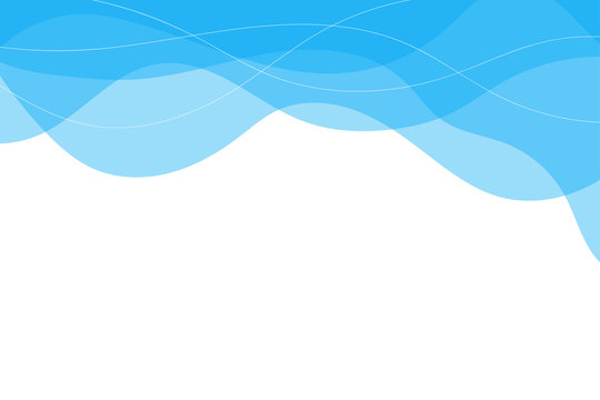 Blue water line wave on top concept abstract background vector