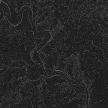 Topographic Map Seamless Pattern. Vector Background.
