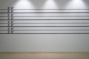 Police Line Up Wall