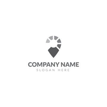 Loading map pin logo template