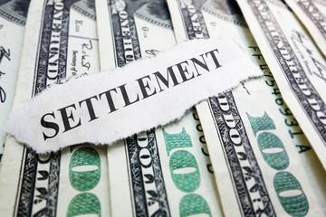 Legal settlement money